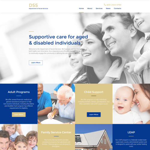 DSS - Website Template based on Bootstrap