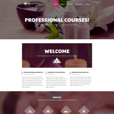 spa accessories website themes with parallax scrolling effect