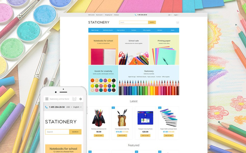 Stationery OpenCart Template New Screenshots BIG