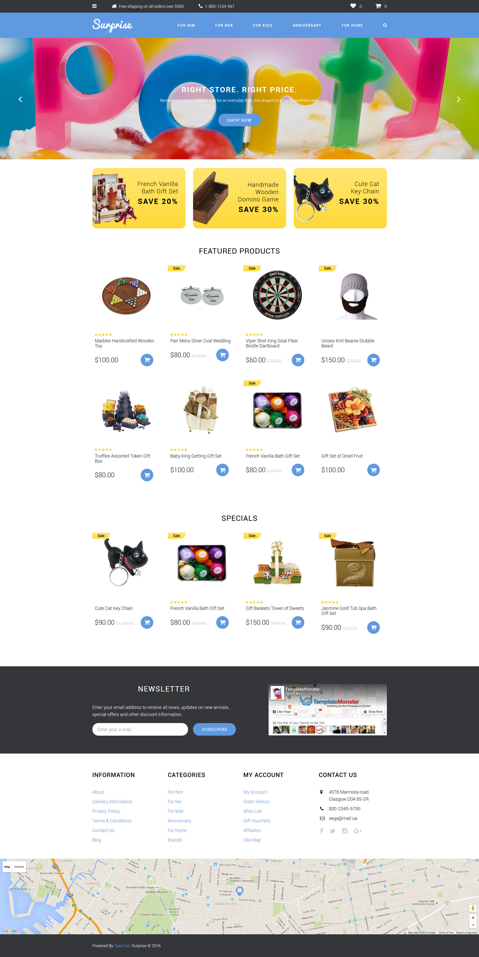 Gifts shop opencart template surprise opencart template alramifo Images