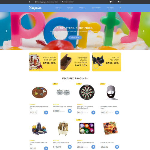 Surprise - OpenCart Template based on Bootstrap