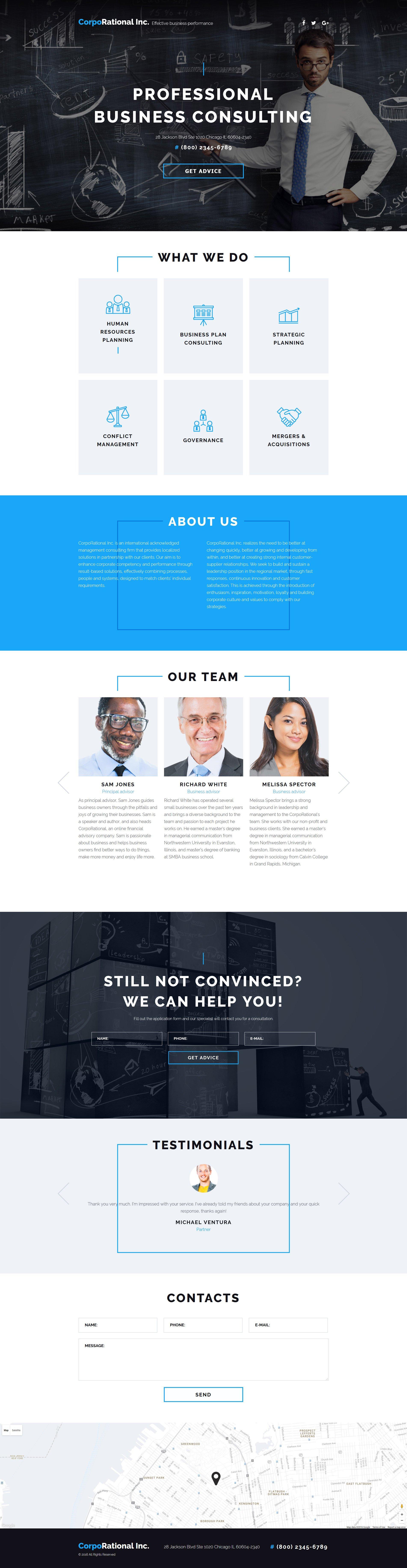 Szablon Landing Page #58067 na temat: usługi doradcze - zrzut ekranu
