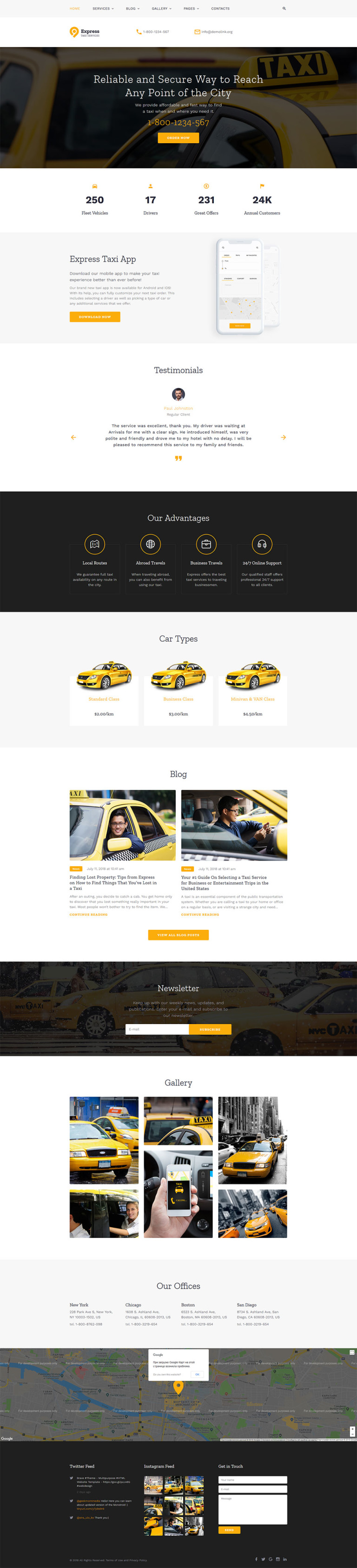 Taxi Vip Website Template New Screenshots BIG
