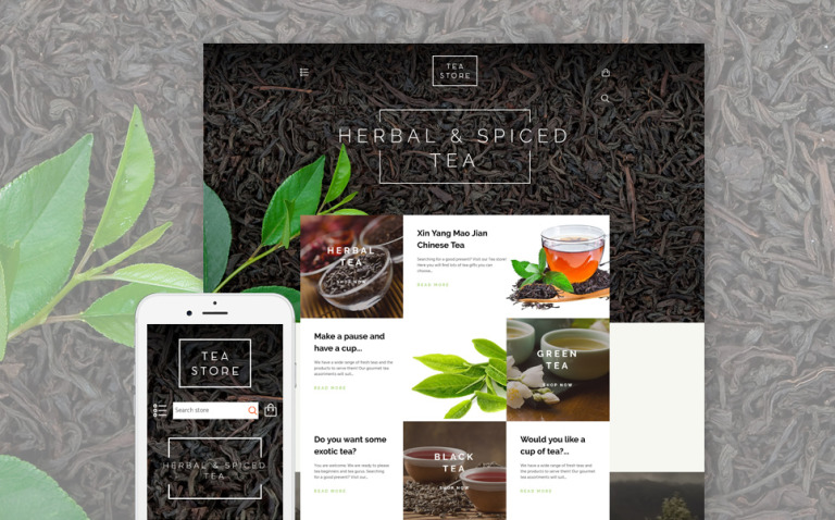 Tea Store Shopify Theme New Screenshots BIG