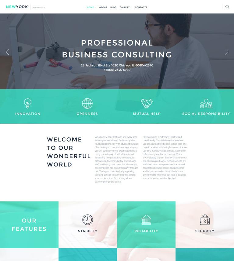 Tema de WordPress #58090 para Sitio de Negocio y Servicios