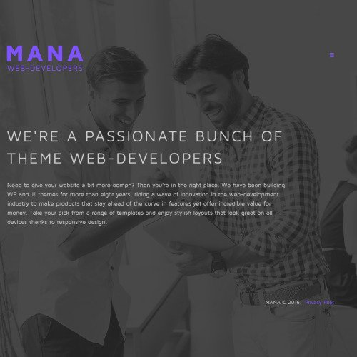 Mana Web Development - Web Development Template based on Bootstrap