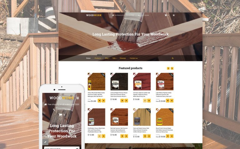 Woodwork Shopify Theme New Screenshots BIG