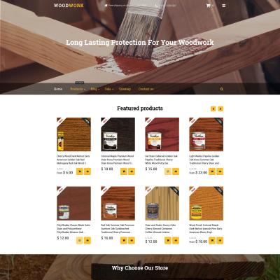 Thème Shopify adaptatif  pour magasin de matériaux de construction