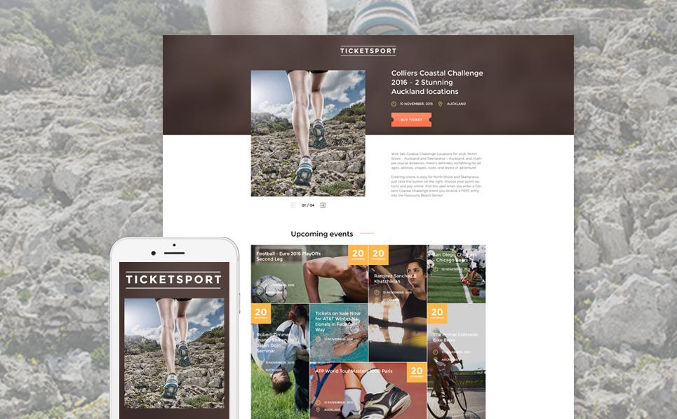 Reszponzív Jegyek weboldal  Nyítóoldal sablon New Screenshots BIG