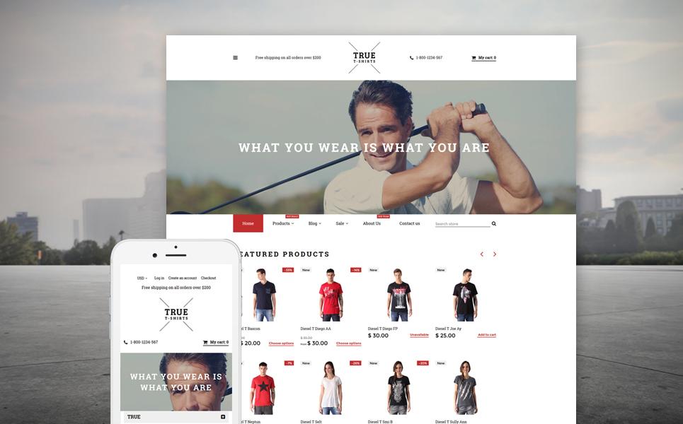 True T Shirts 58115 By Zemez Shopify Themes