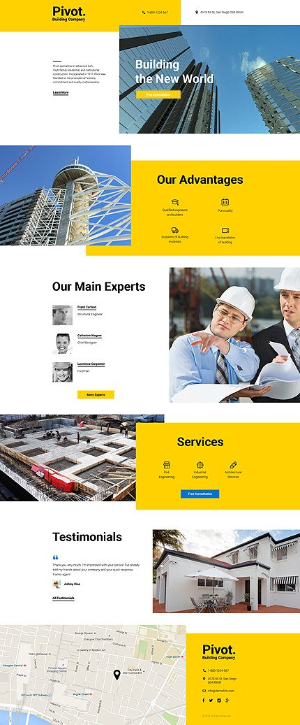 Template #58128 Build House Landing Page Template - Landing Page Screenshot