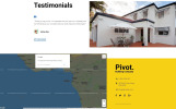 "Landing Page Template namens ""Pivot - Construction Company Clean HTML"""