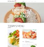 Cafe & Restaurant Website  Template 58129