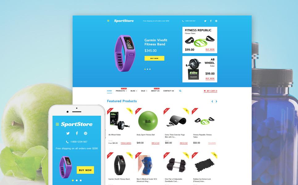 Responsywny szablon Shopify #58130 na temat: sklep sportowy New Screenshots BIG