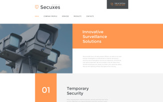Secuxes Website Template