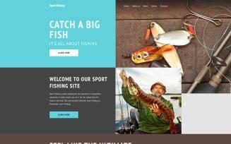 Sport Fishing Website Template