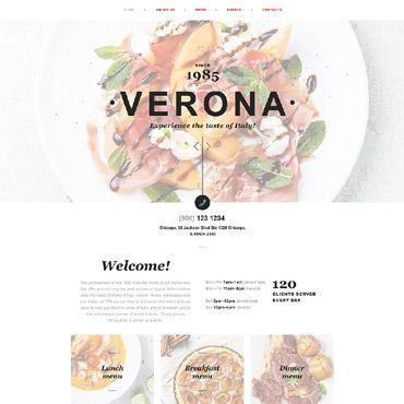 Купить Muse шаблон сайта итальянского ресторана - VERONA. Купить шаблон #58145 и создать сайт.