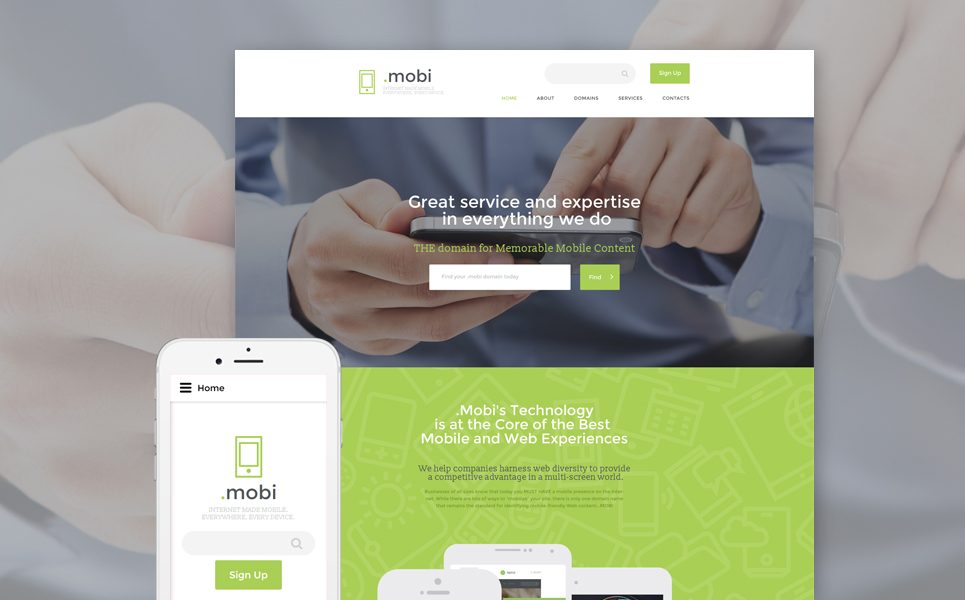 Dot Mobi template illustration image