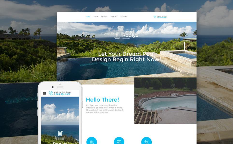 Responsive Website template over Zwembad  New Screenshots BIG