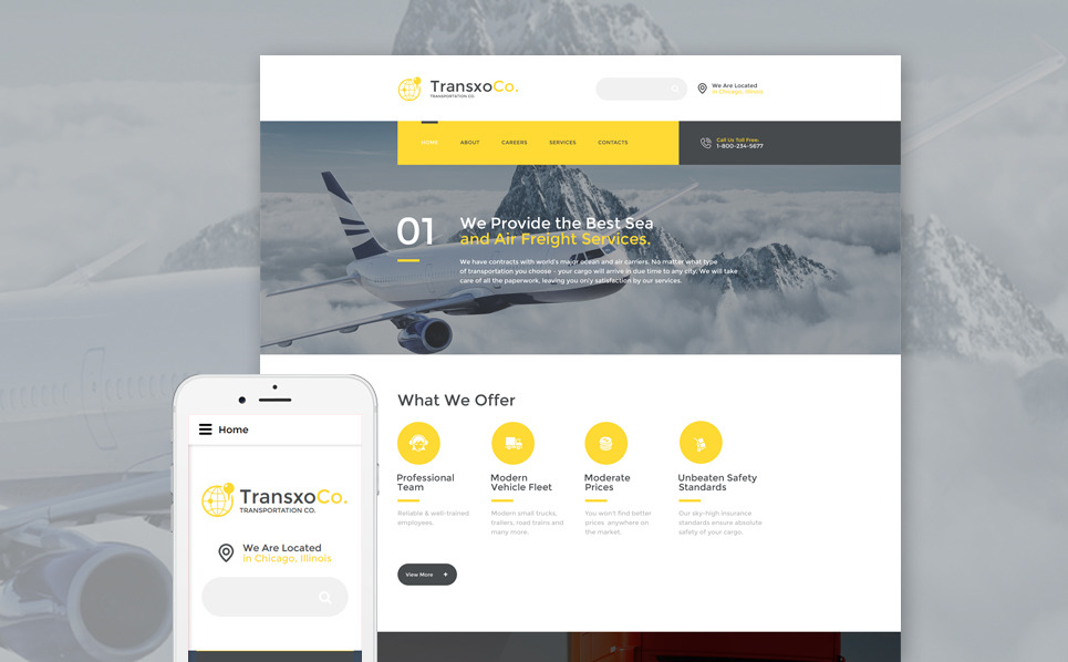 Адаптивний Шаблон сайту на тему транспорт New Screenshots BIG