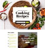 Food & Drink Landing Page  Template 58167