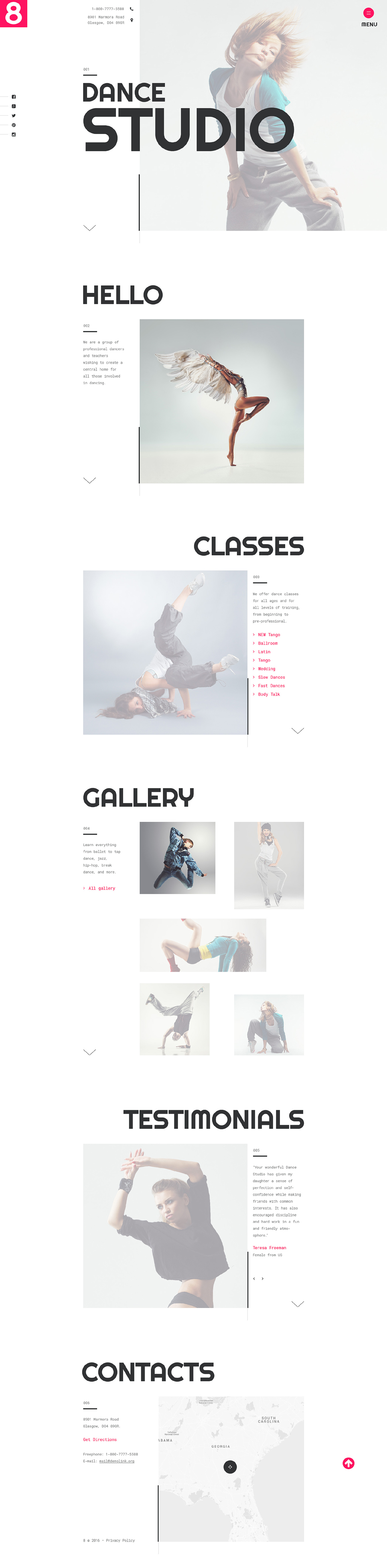 Dance Studio template illustration image