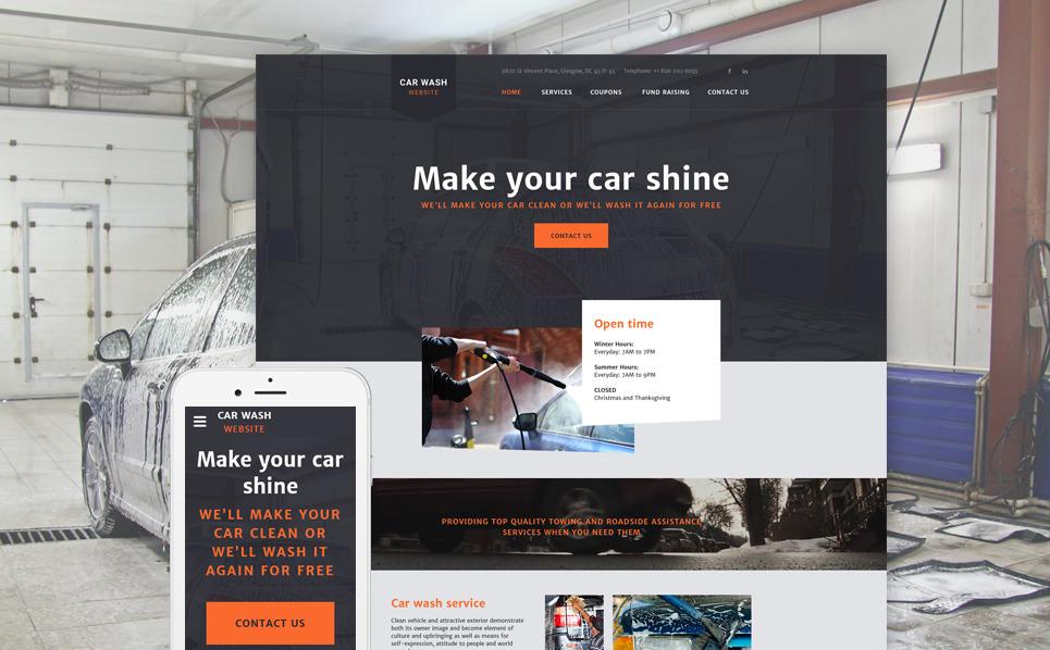 Reszponzív Autómosók Weboldal sablon New Screenshots BIG