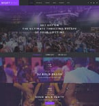 Night Club Website  Template 58196