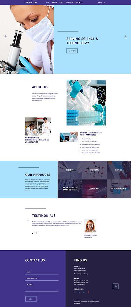 science website template 58198 templates com