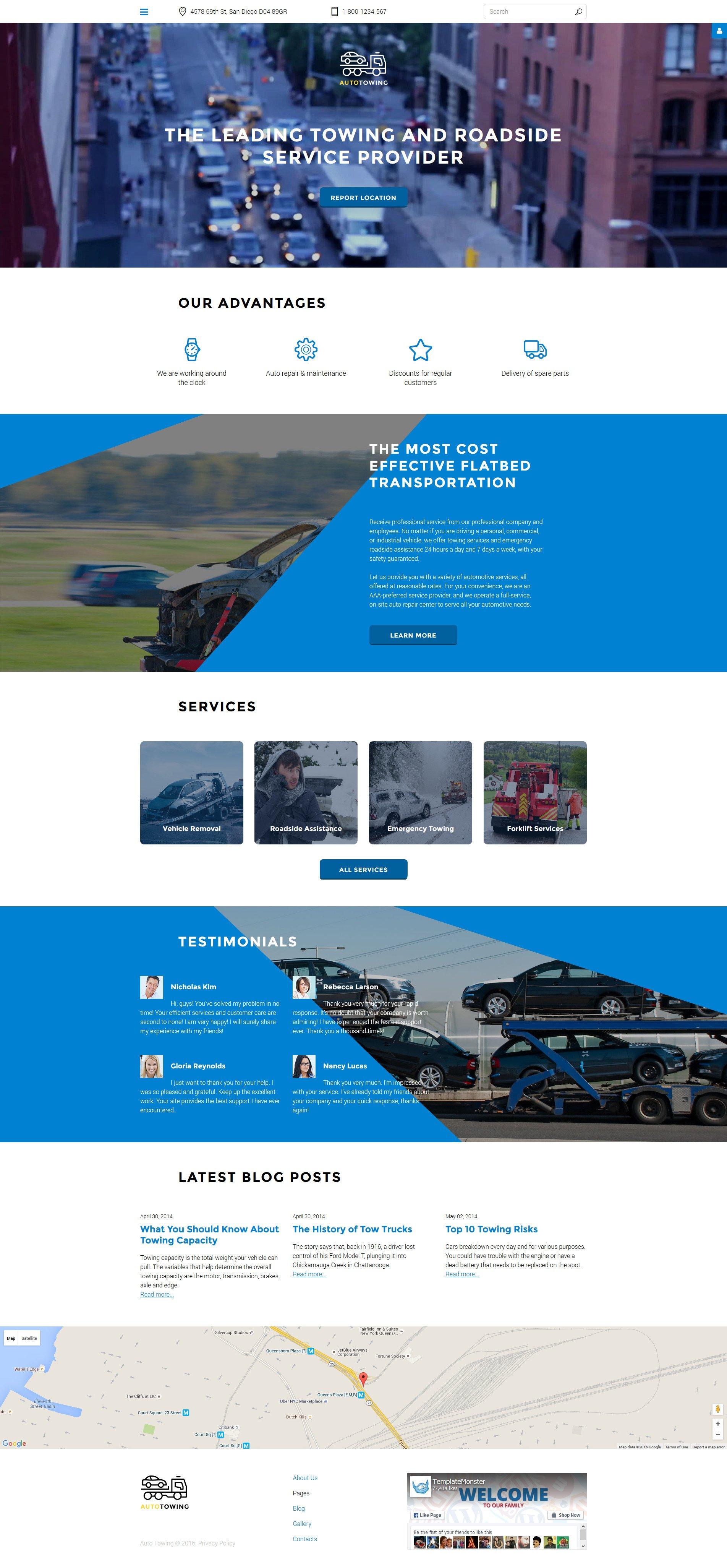 Auto Towing Responsive Joomla Template - screenshot