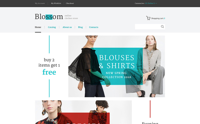 Blossom VirtueMart Template