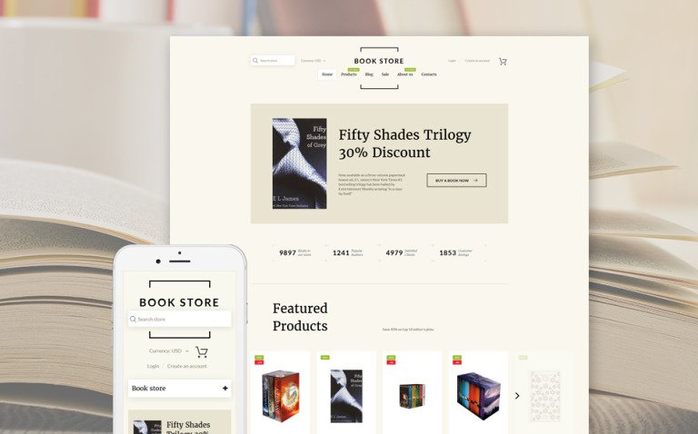 Book Shop Shopify Theme New Screenshots BIG
