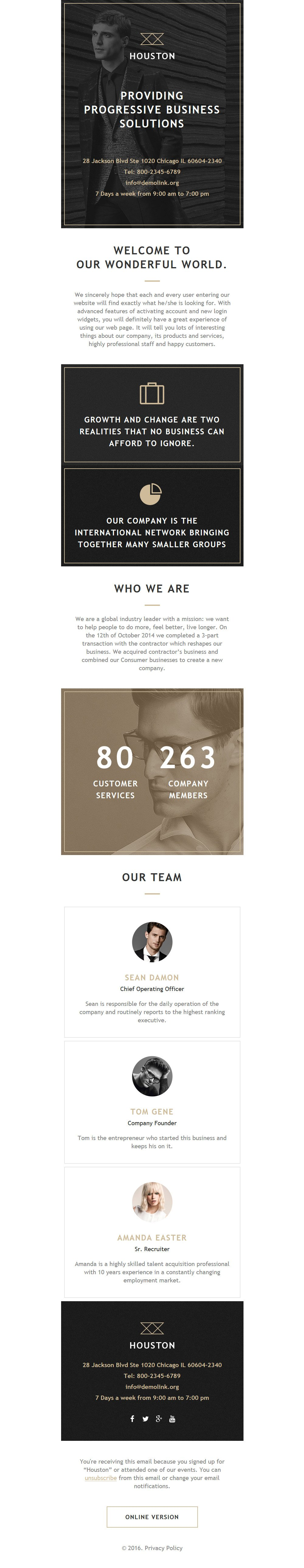 Business & Services Responsive Newsletter Template