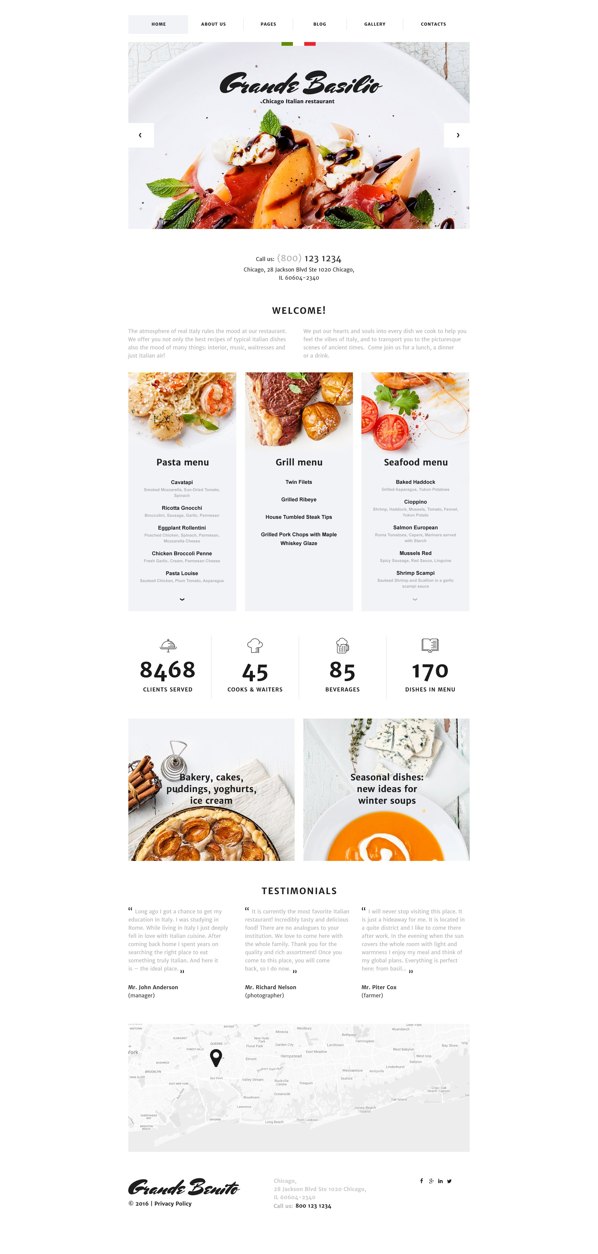 Cafe and Restaurant Responsive Joomla Template #58199