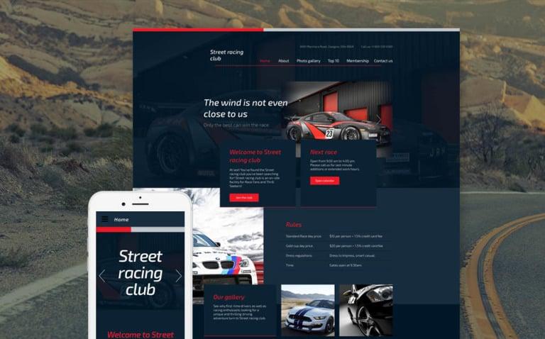 Car Club Responsive Website Template New Screenshots BIG