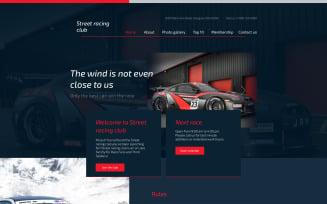 Car Club Responsive Website Template