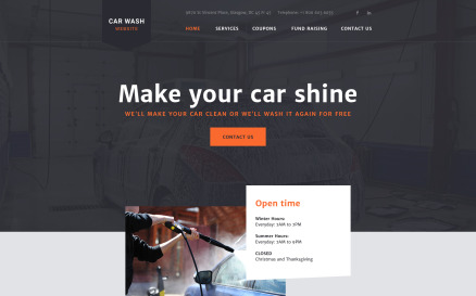 CarWash Website Template