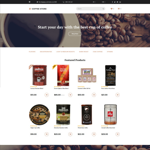 Coffee Store - OpenCart Template based on Bootstrap