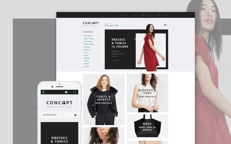 Concept PrestaShop Theme New Screenshots BIG