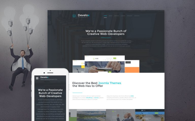 Develox Website Template New Screenshots BIG