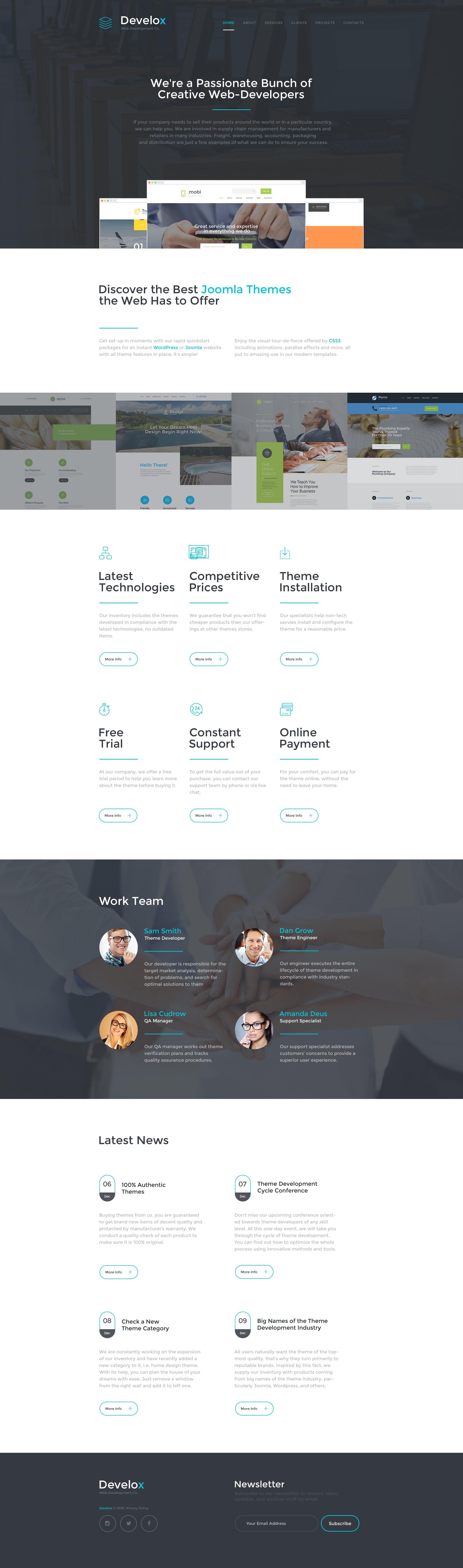 Develox Website Template