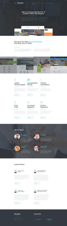 website development templates