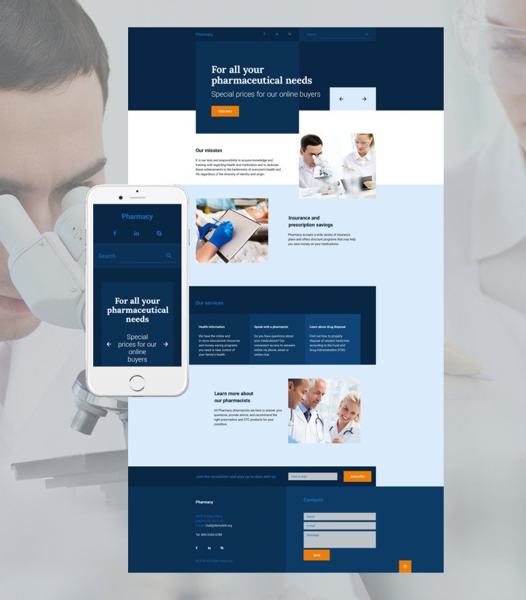 Drug Store Responsive Landing Page Template New Screenshots BIG