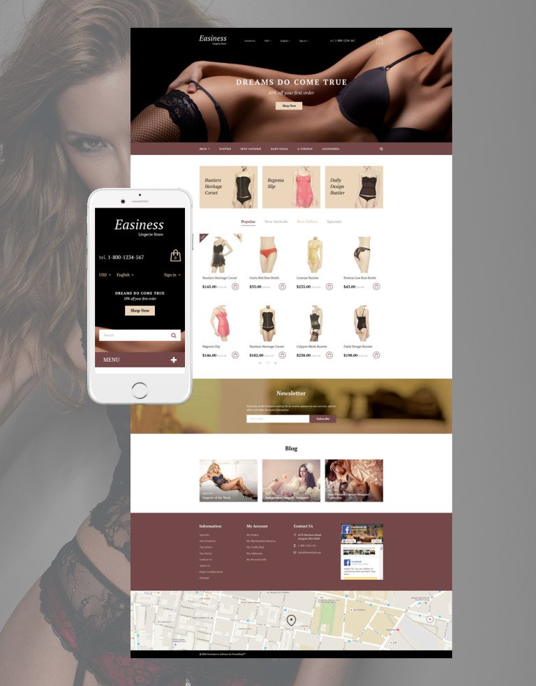 Easiness PrestaShop Theme New Screenshots BIG