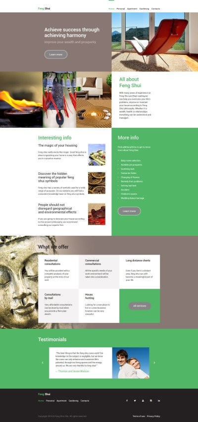Feng Shui Website Template