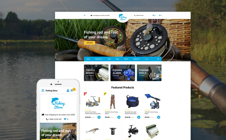 Fishing Store OpenCart Template New Screenshots BIG