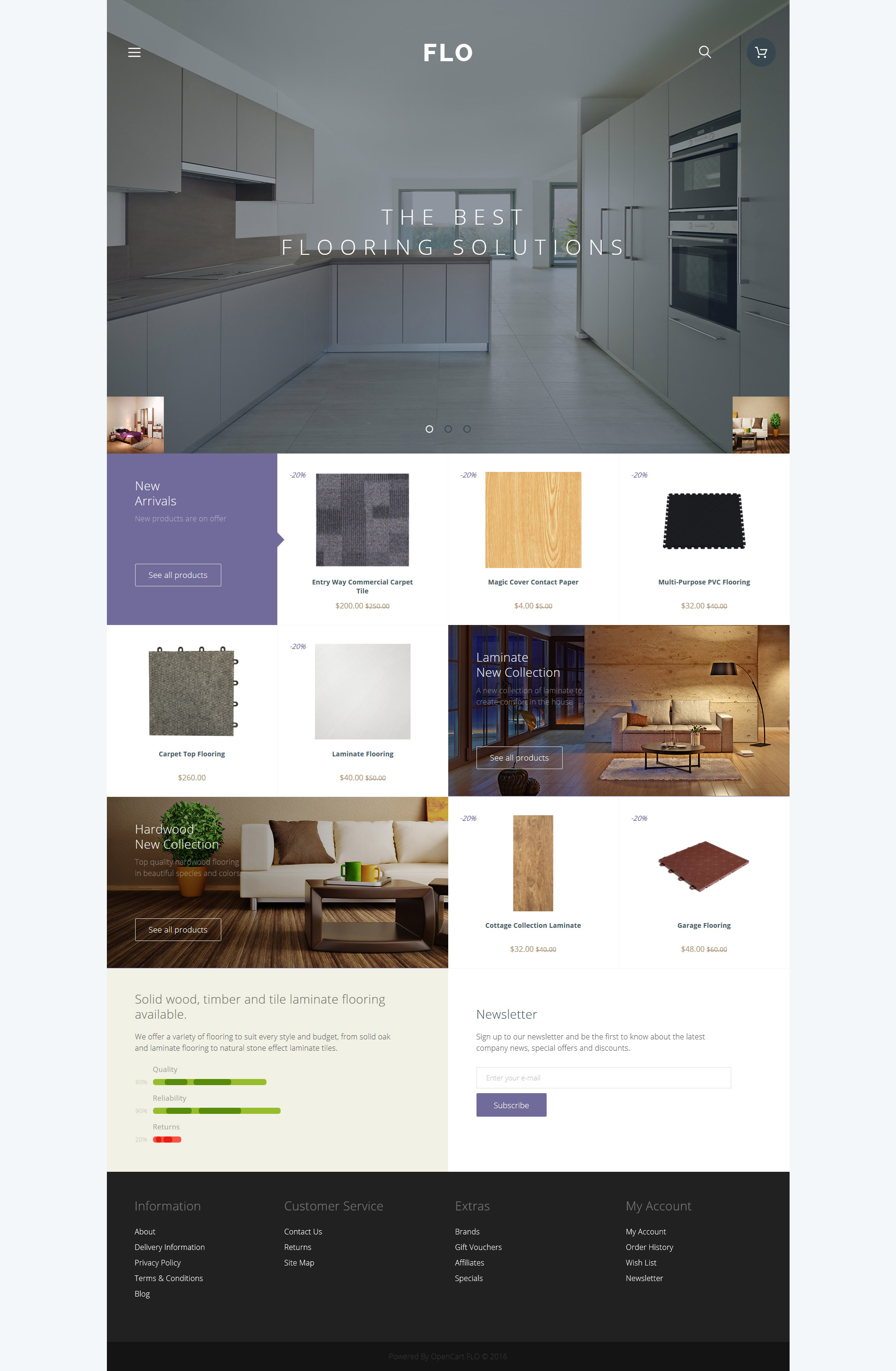 FLO OpenCart Template - screenshot