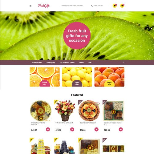 Fruit Gifts - OpenCart Template based on Bootstrap