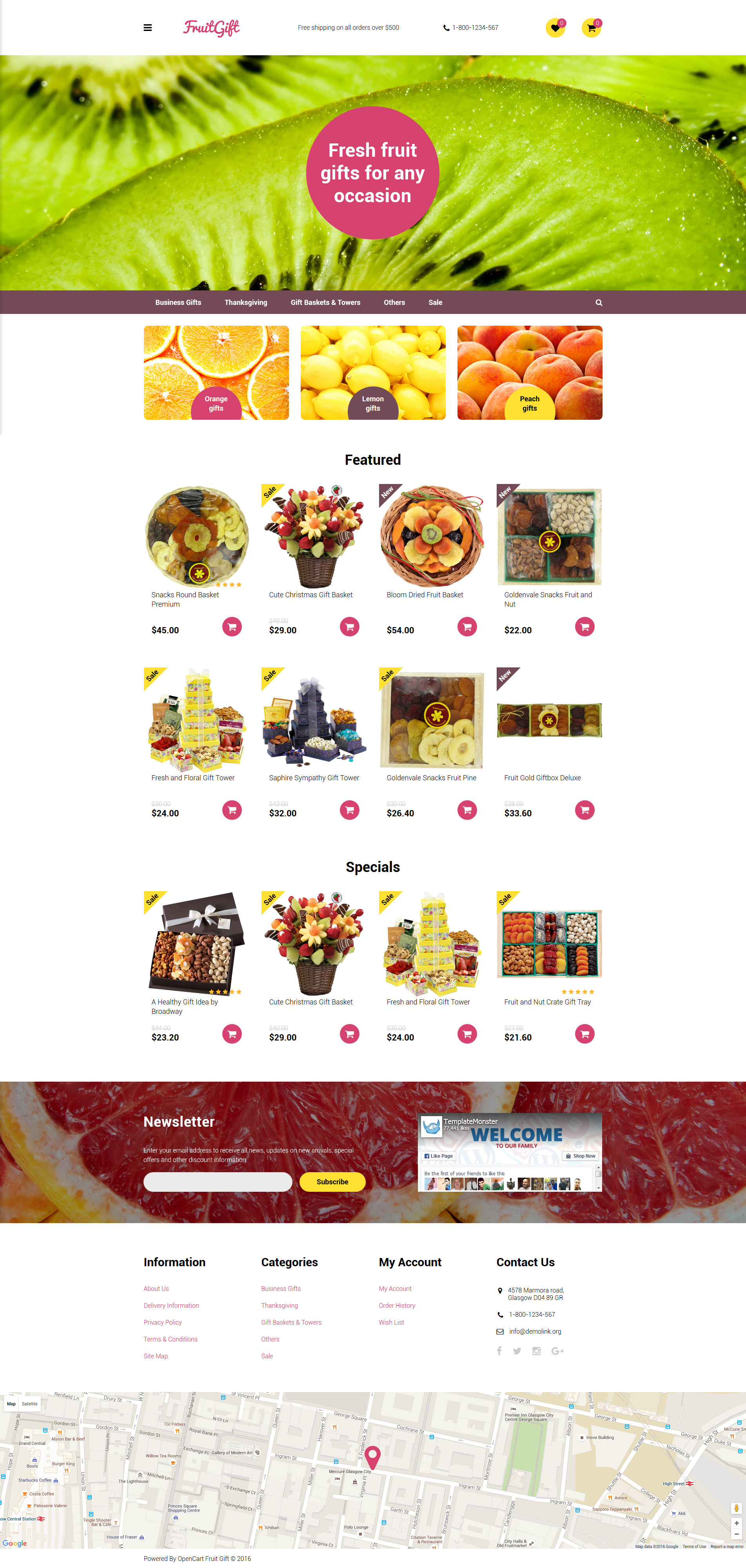 Fruit Gifts Template OpenCart №58166