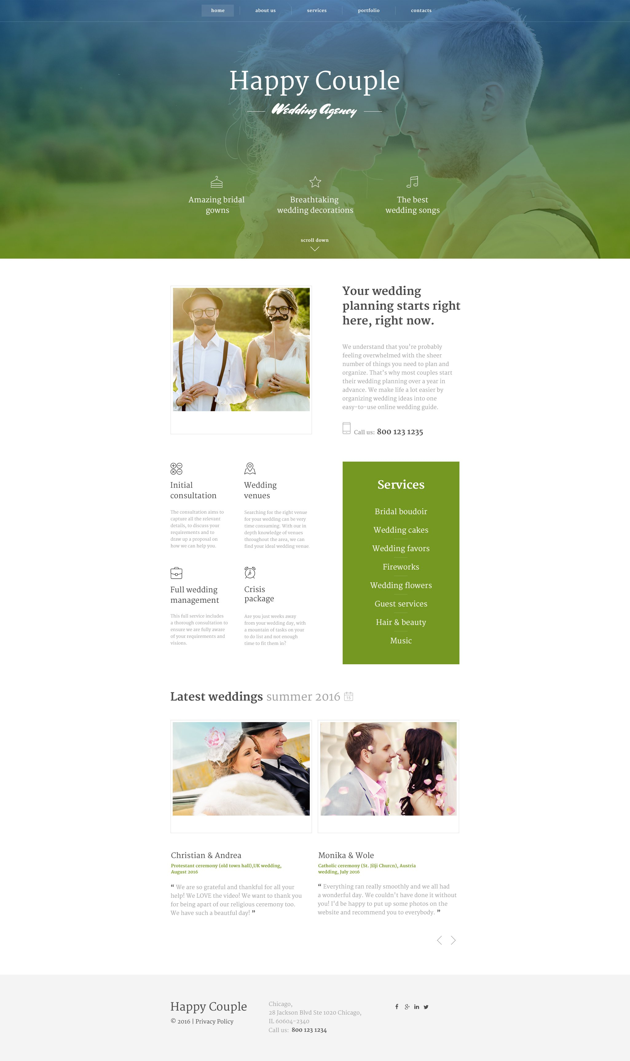 Happy Couple Website Template - screenshot